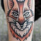 Born foxhead tattoo