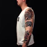 Tattoojoris indian skull tattoo, panther tattoo