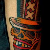 Tattoojoris skull Amsterdam tattoo