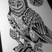 Tattoojoris flash owl