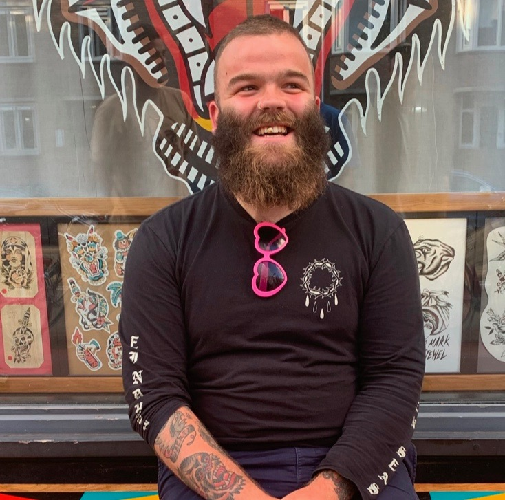 Picture of Callum an artist at Tattoo Joris and Co in Amsterdam